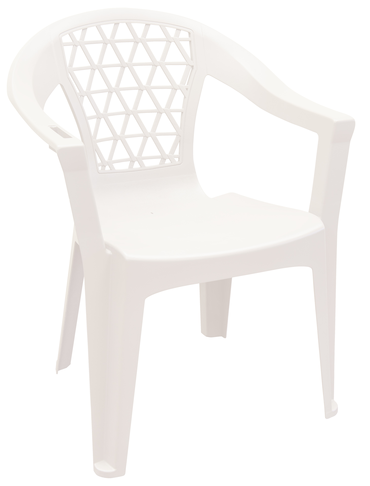 adams penza outdoor resin stack chair with phone holder plastic patio furniture white