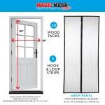 Magic Mesh Deluxe Magnetic Hands Free Screen Door Cover As Seen On Tv Walmart Com Walmart Com