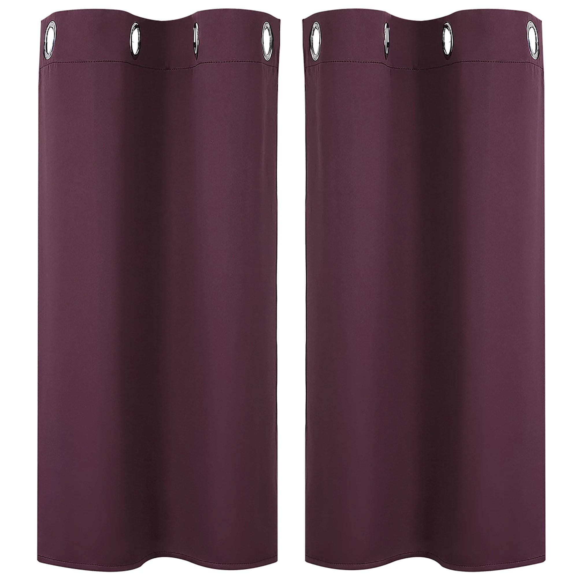 kitchen small window blackout curtains panels set of 2 burgundy 29 x 36 walmart com
