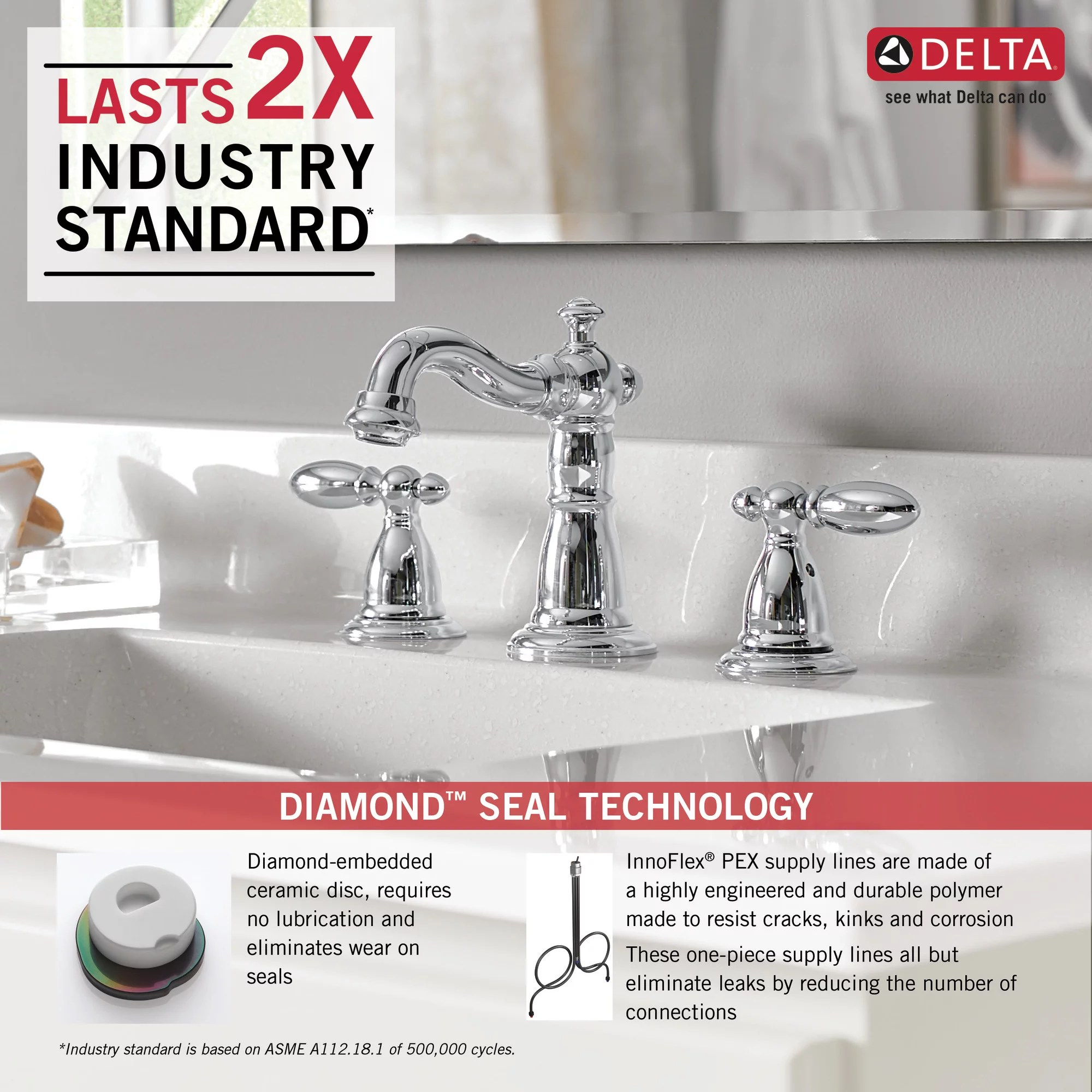 delta faucet victorian 2 handle widespread bathroom faucet with diamond seal technology and metal drain assembly venetian bronze 3555 rbmpu dst commercial bathroom sink faucets