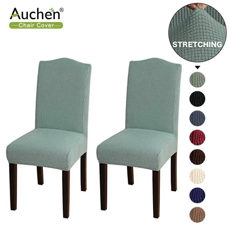 Auchen Chair Covers For Dining Room High Stretch Chair Covers Parsons Chair Slipcover Chair Covers Removable Washable Elastic Seat Case For Restaurant Hotel Ceremony Set Of 2 Cyan Walmart Com Walmart Com