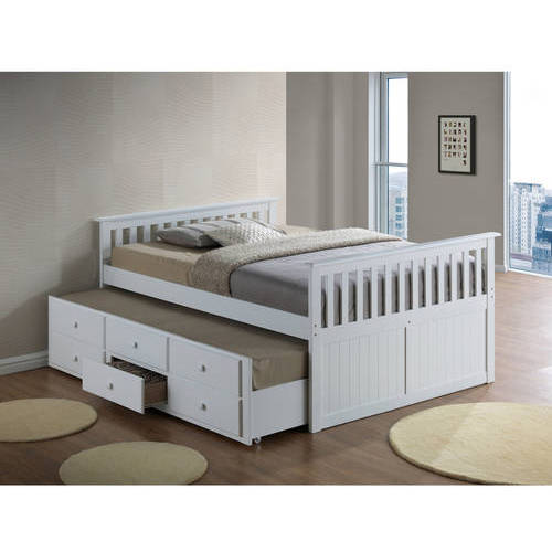 broyhill kids marco island full captains bed with twin trundle and storage drawer white