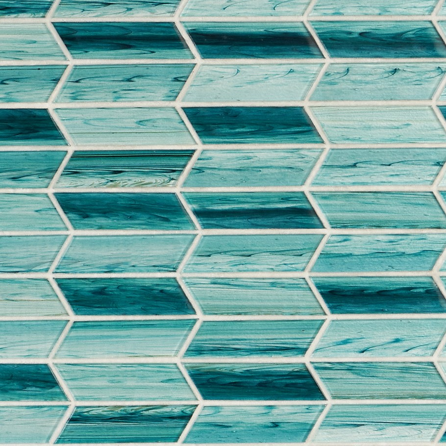 darya turquoise 11 73 in x 11 74 in chevron glass mosaic tile 0 96 sq ft sheet walmart com
