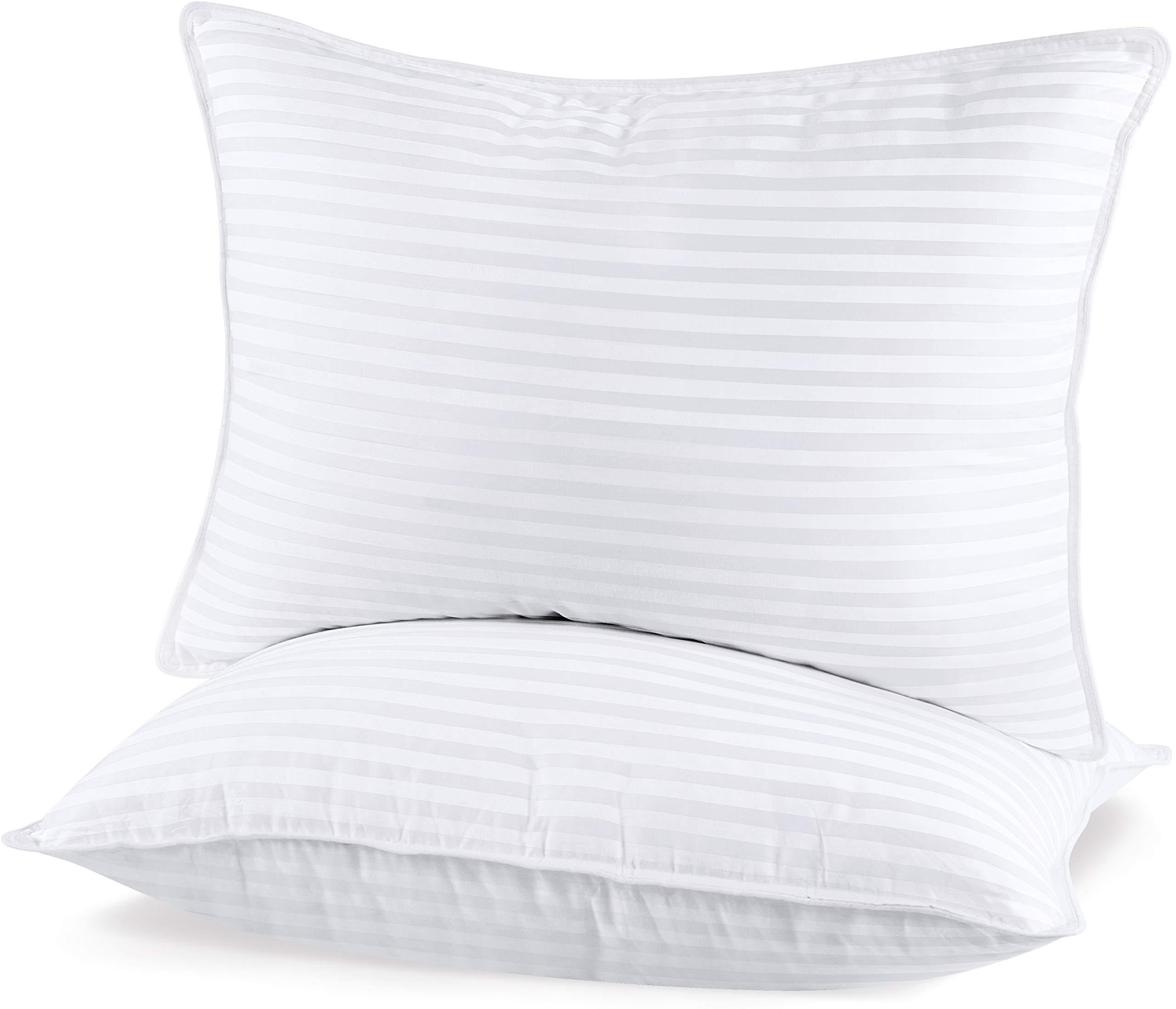 utopia bedding 2 pack premium plush pillow fiber filled bed pillows queen size 20 x 28 inches cotton pillows for sleeping fluffy and soft