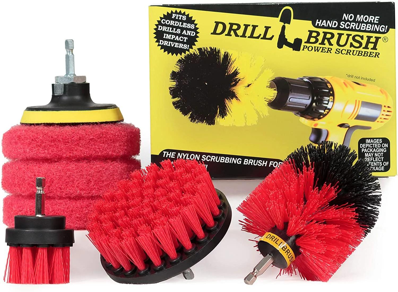 drillbrush drill brush kit rotary drill brush cordless scrubber deck scrub brush scrub brush kit concrete cleaner brush marble brush