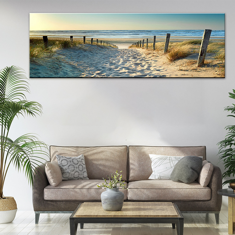 Ocean Beach Nature Landscape Canvas Print Wall Art Painting For Living Room Decor And Modern Home Decorations No Frame Walmart Canada