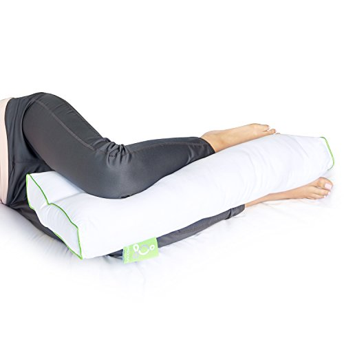sleep yoga leg back sleepers side sleepers ergonomically designed down alternative between under pillow for knee support