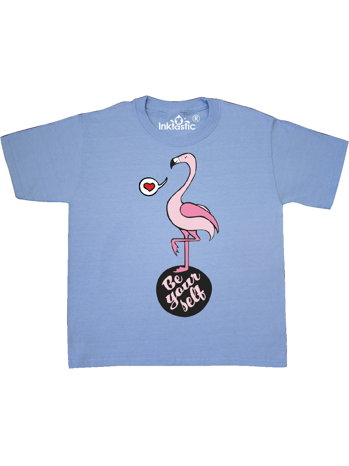 Be Yourself Flamingo Youth T Shirt