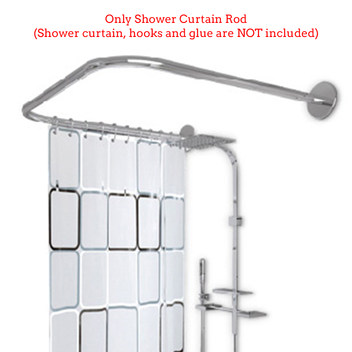 stainless steel adjustable curved shower curtain rod u shape bathroom rail rod