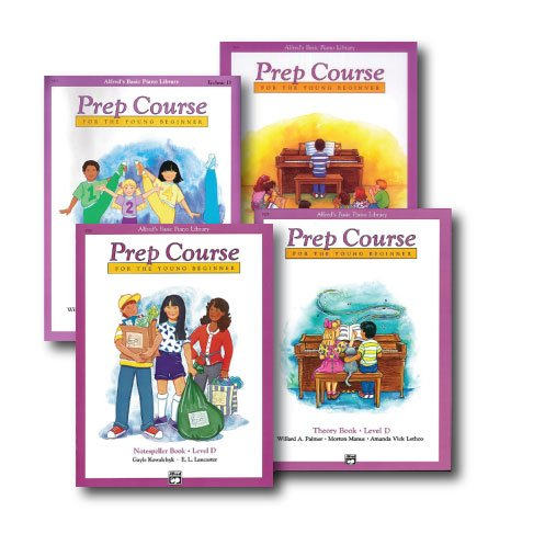 Alfred Basic Piano Prep Course Level D – Four Book Set – Lesson, Theory, Technic and Notespeller Books