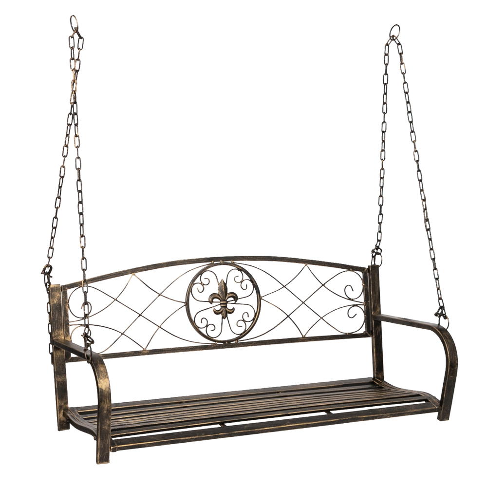 heavy duty porch swing outdoor metal hanging swing bench patio garden 2 person swing chair seat