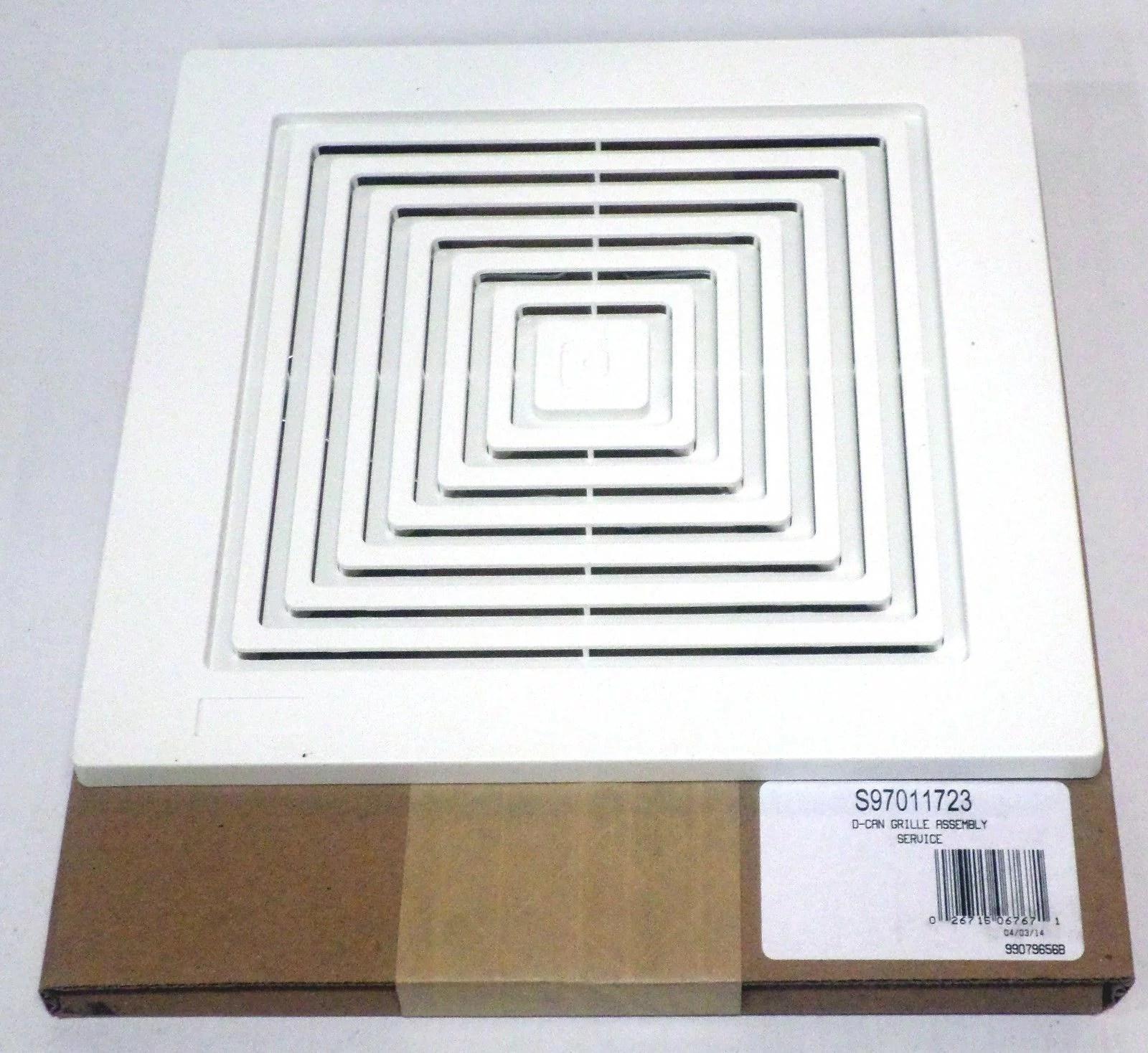 broan nutone 97011723 bath bathroom ceiling fan grille grill cover plastic white walmart com