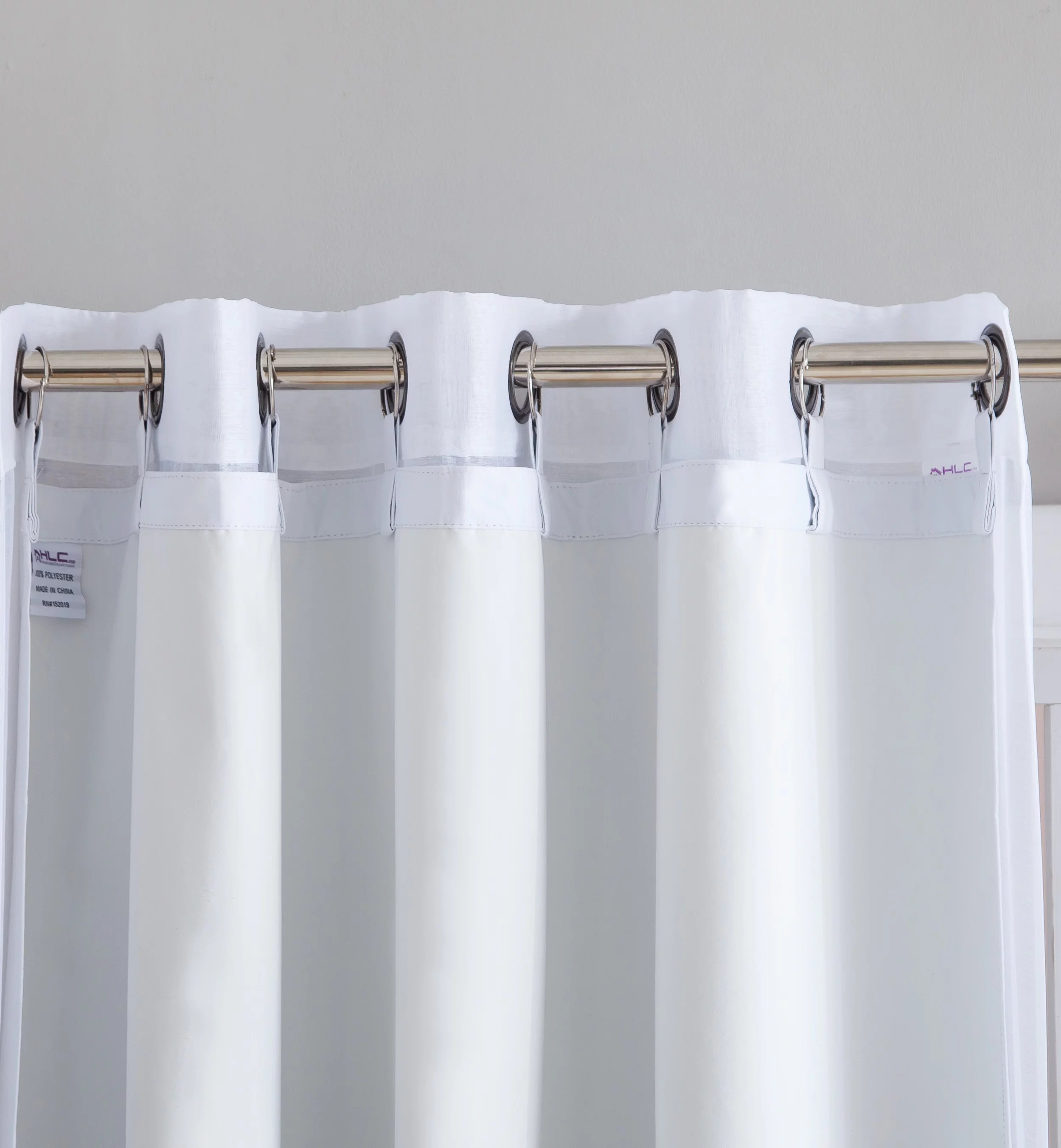 hlc me white thermal 100 blackout grommet curtain liner for complete darkness energy efficiency privacy 1 liner walmart com