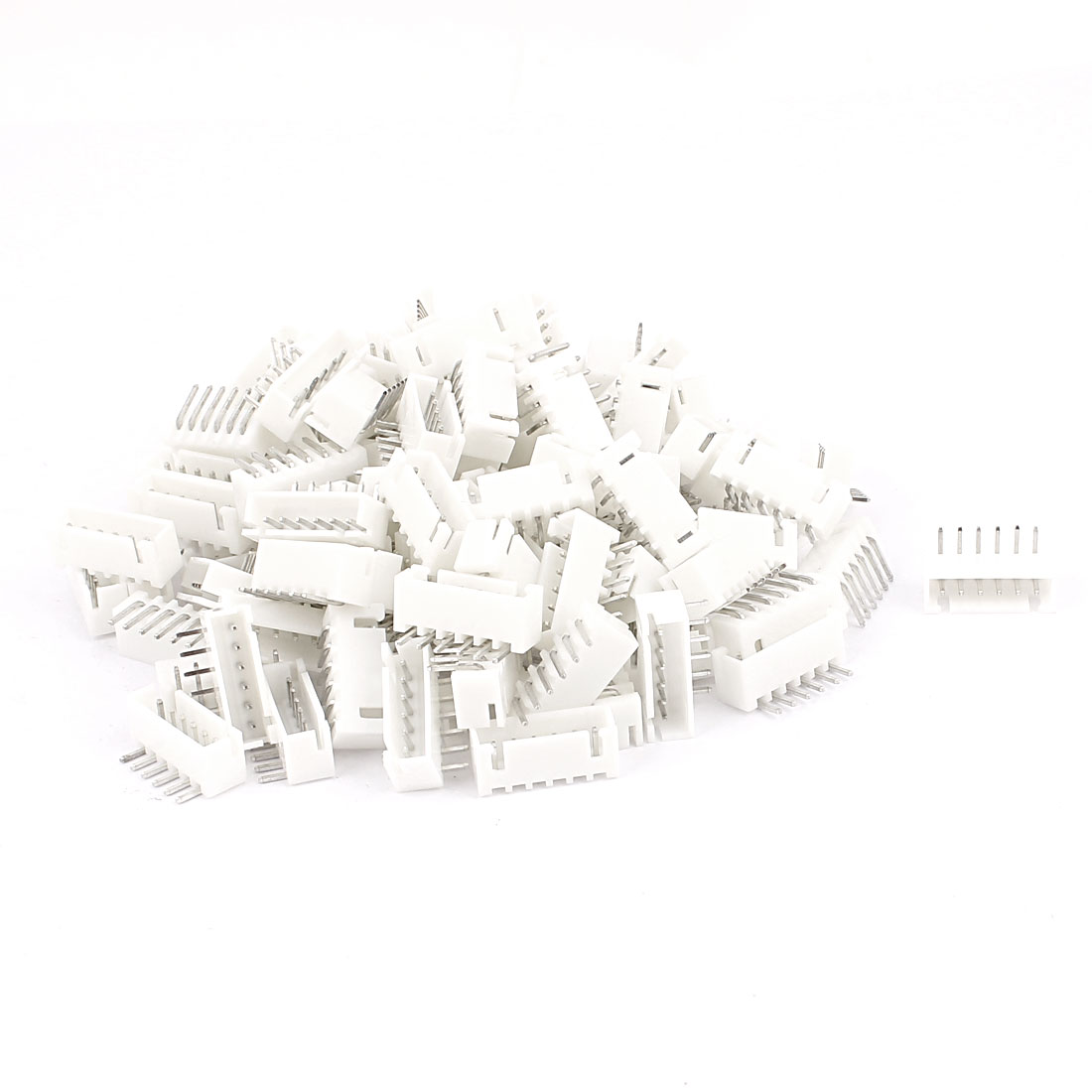110pcs 1 8mm Pitch Right Angle Male 6 Pins Jst Header