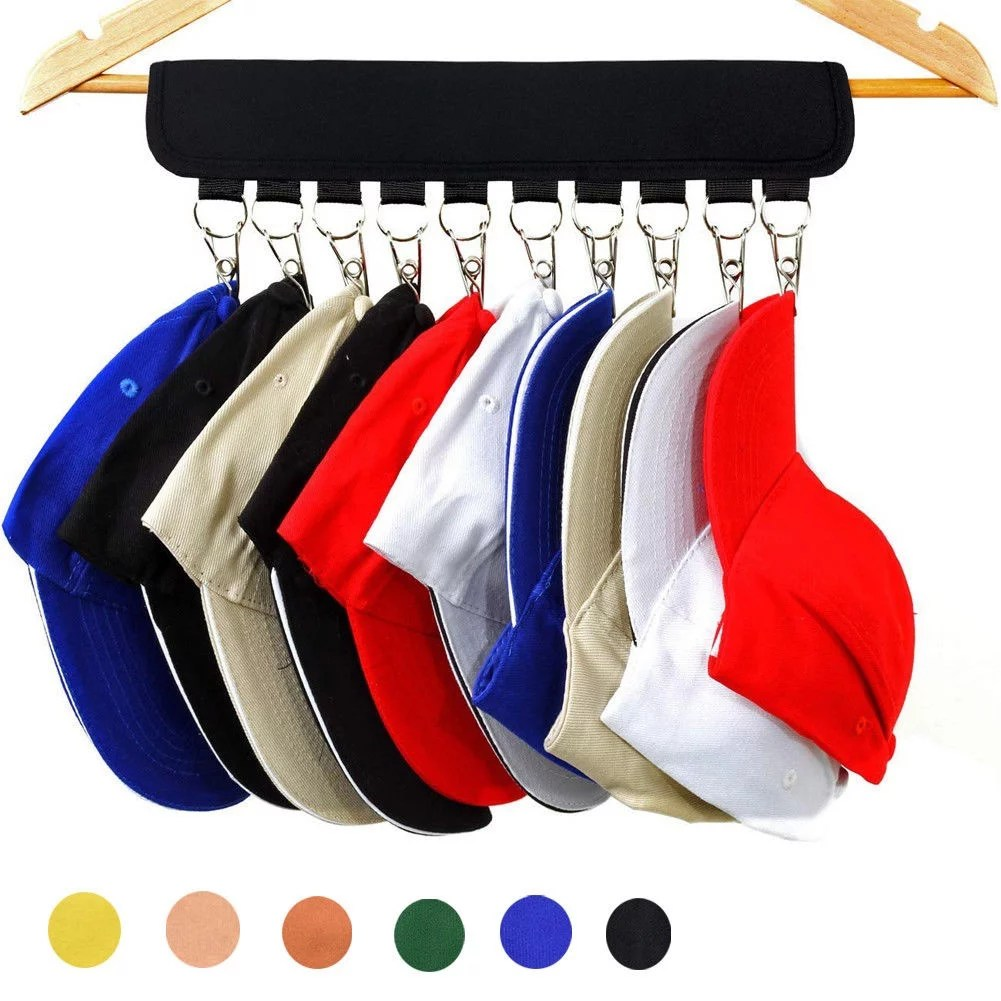 cap rack closet hanger storage 10 clip organizer trucker cap baseball hat rack