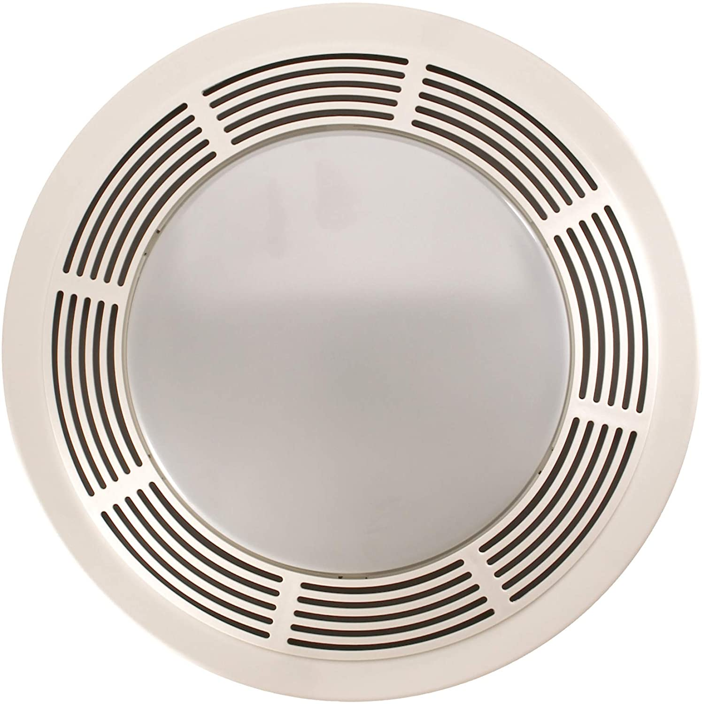 broan nutone 8664rp exhaust fan and 100 watt incandescent light with glass lens bathroom ceiling ventilation fan 100 watts 100 cfm white