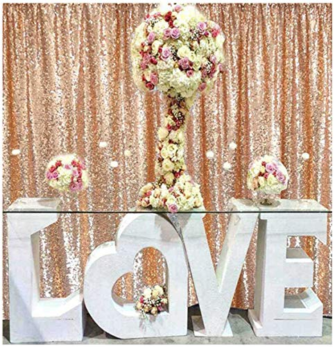 shidianyi rose gold sequin backdrop 8ftx10ft sequin photo backdropphoto booth backgroundsequence christmas backdrop curtain rose gold