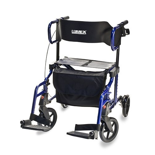 Lumex HybridLX Rollator/Transport Chair with Storage Pouch(for personal Item)