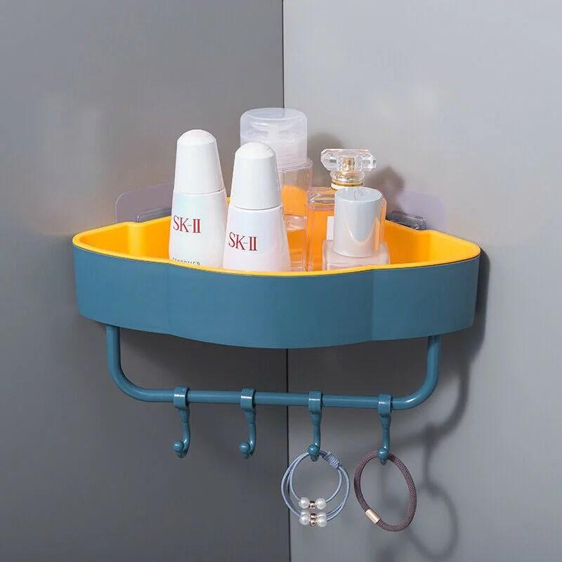 sunsiom bathroom shower caddy shelf corner bath wall mount rack storage holder organizer color dark green