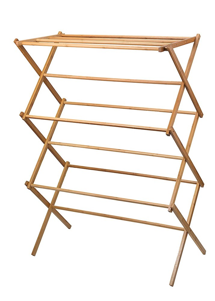 heavy duty clothes drying rack bamboo wooden clothes rack