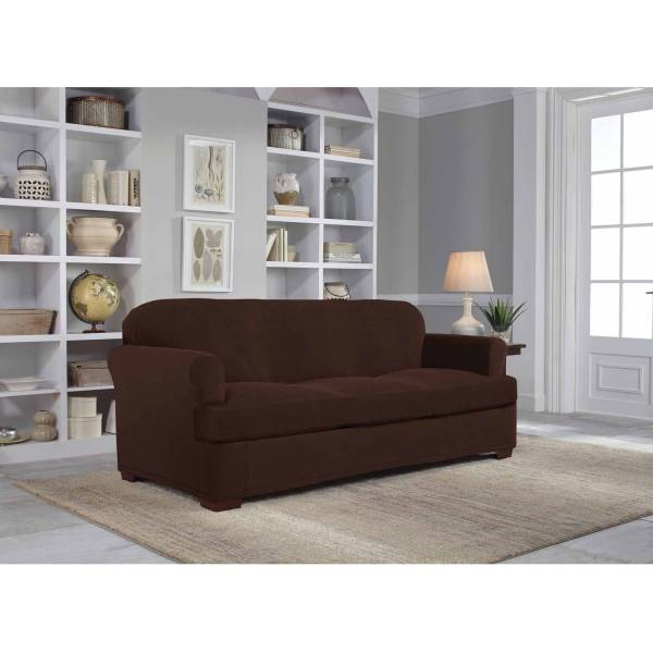 Serta Stretch Grid Slipcover  Sofa  2 Piece T Cushion   Walmart com