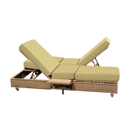 forever patio catalina double chaise lounge with cushion