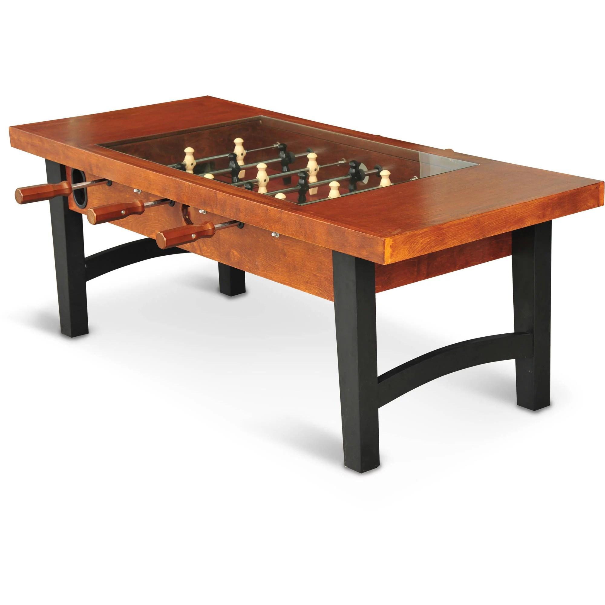 eastpoint sports 55 inch coffee table soccer foosball game table walmart com