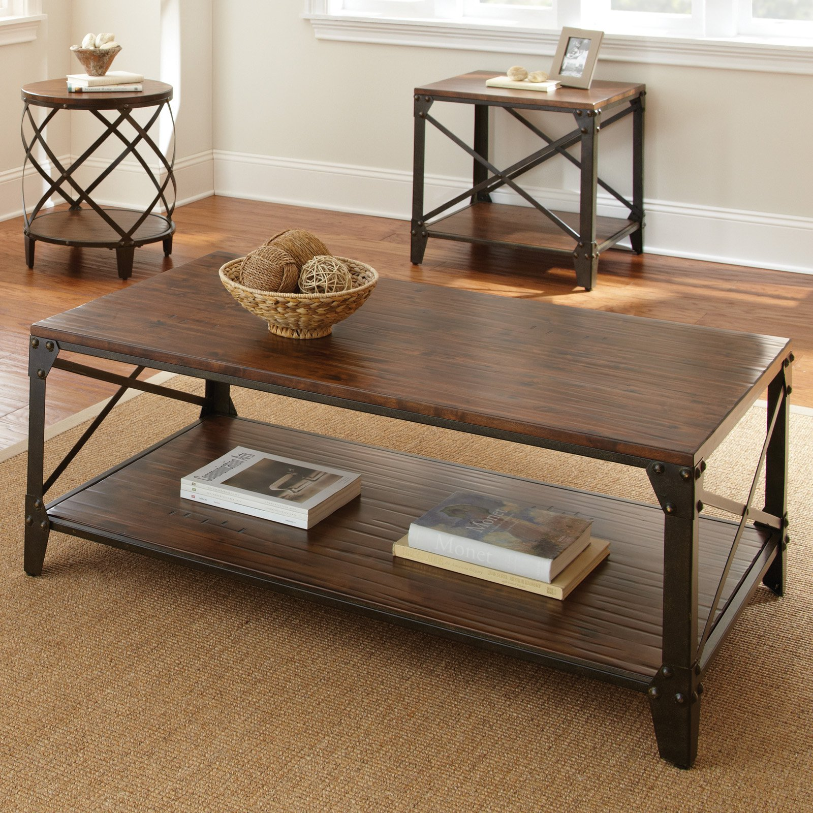 wood and metal coffee tables coffee