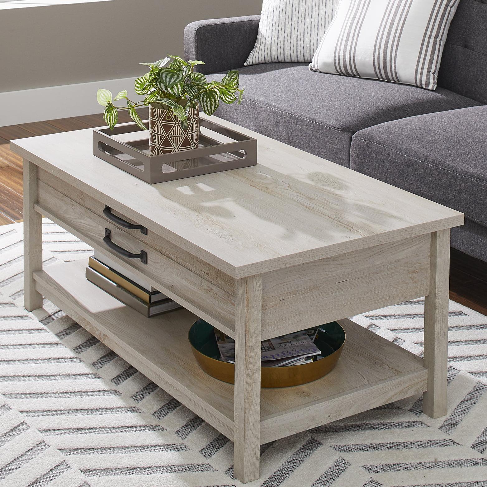 Better Homes Gardens Modern Farmhouse Lift Top Coffee Table Rustic White Finish Walmart Com Walmart Com