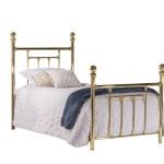Hillsdale Furniture Chelsea Modern Metal Four Poster Bed Twin Classic Brass Walmart Com Walmart Com