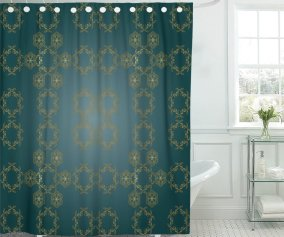 Pknmt Asian Silk Patterns On Shades Of Dark Teal Theater Polyester Shower Curtain 60x72 Inches Walmart Com Walmart Com
