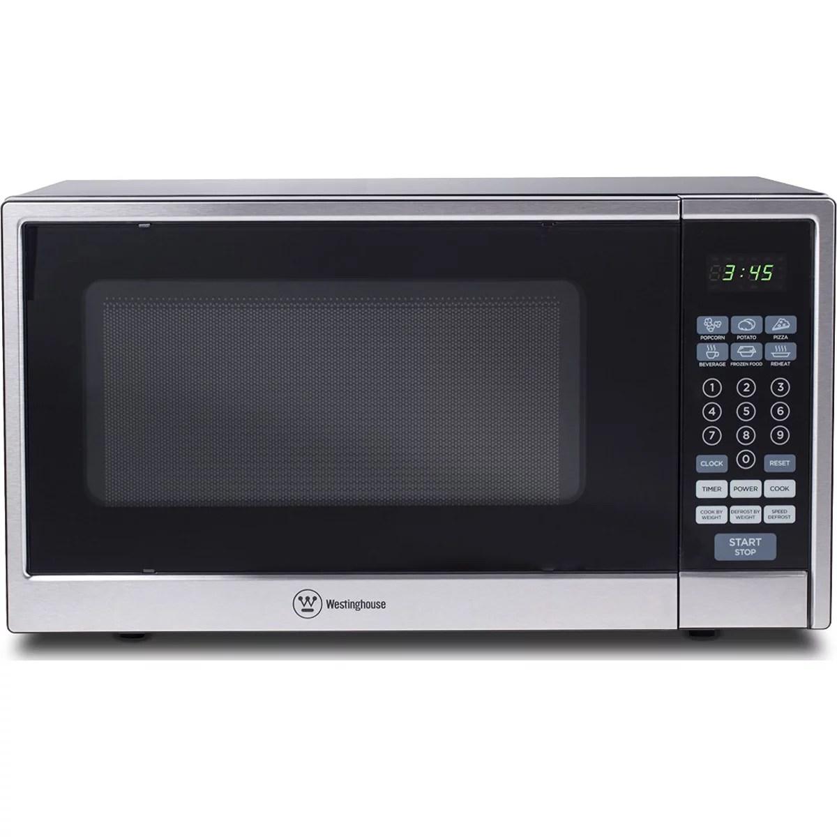 westinghouse 1 1 cu ft 1000w countertop microwave black stainless steel