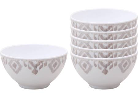 Better Homes and Gardens 6pk Ikat Berry Bowl, Gray