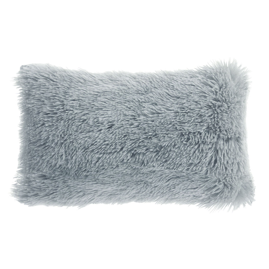 piccocasa faux fur modern solid rectangle throw pillow covers 12 x20 light gray