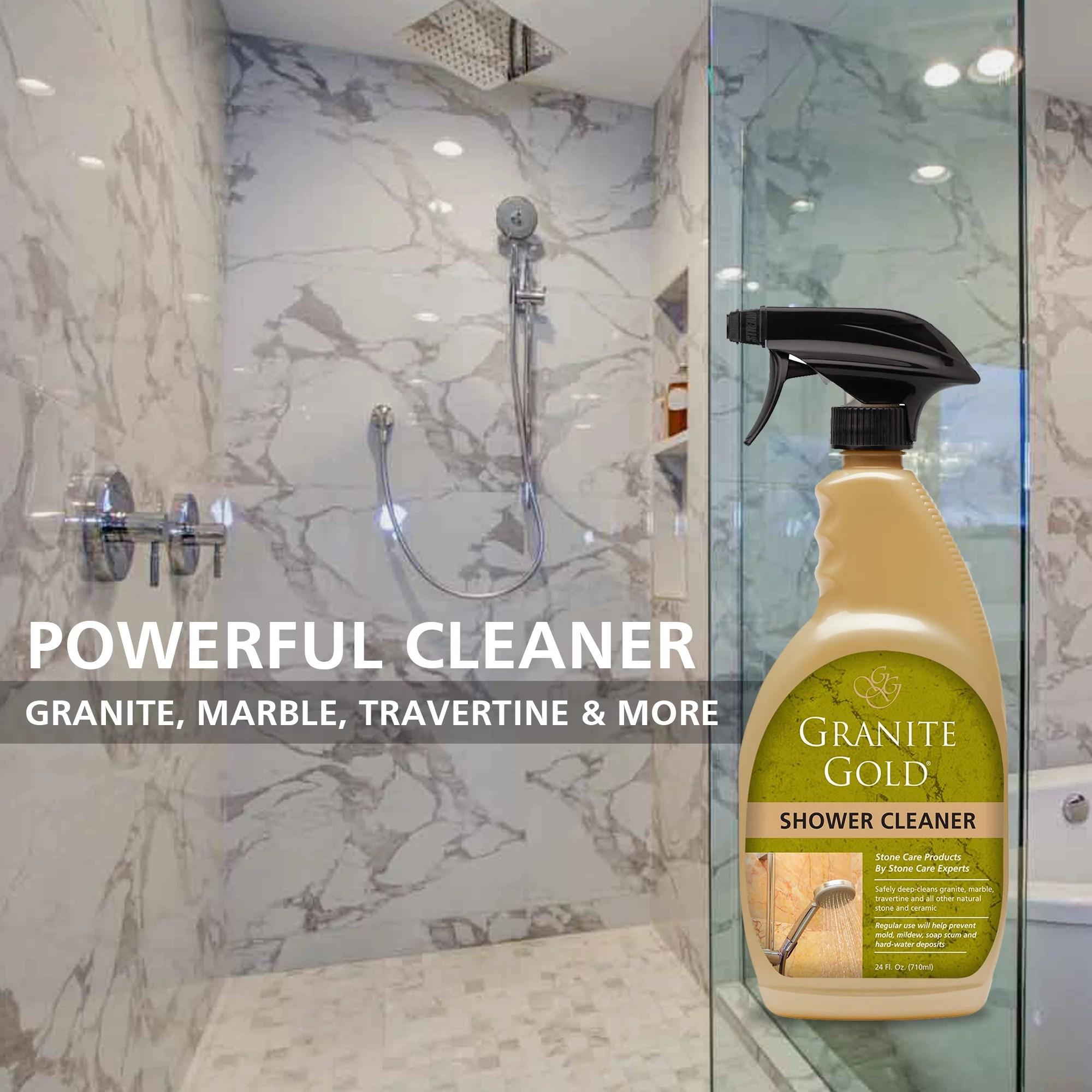 granite gold shower cleaner 24 fl oz stone tub tile cleaner