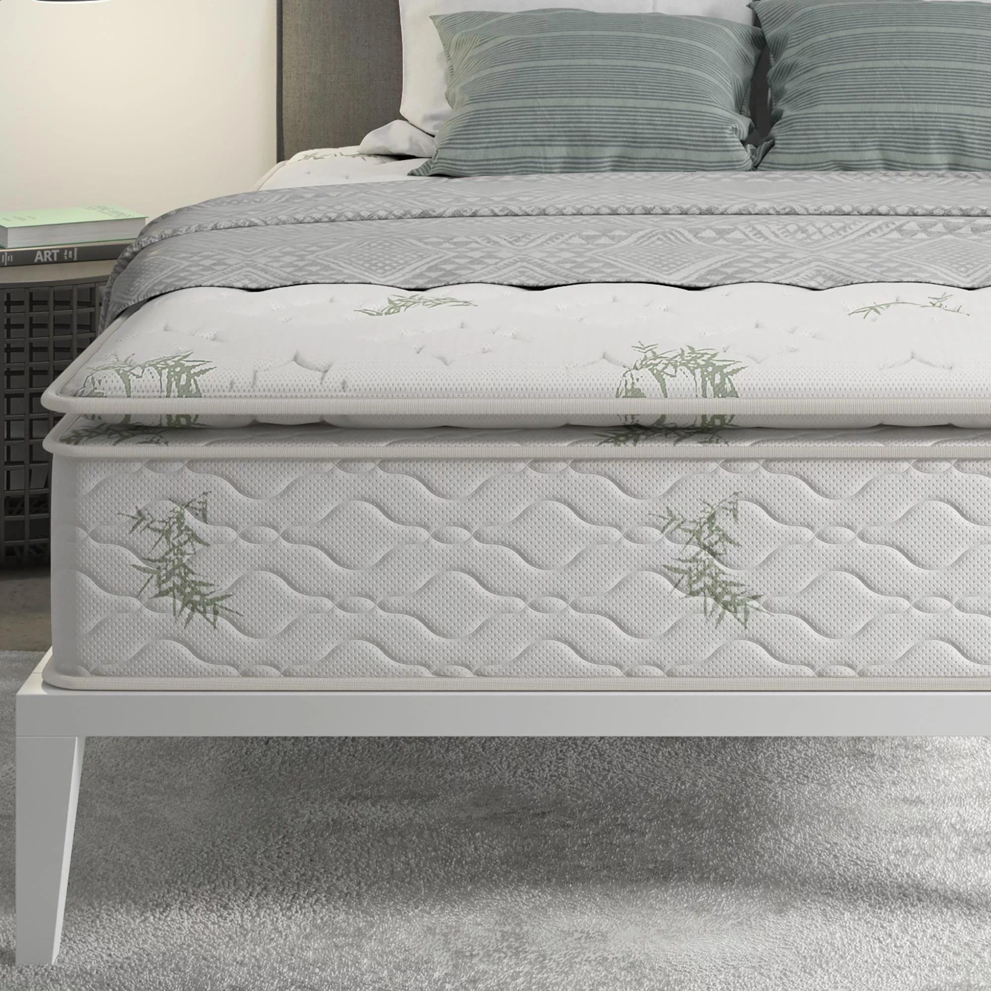 signature sleep 13 independently encased coil pillow top mattress walmart com