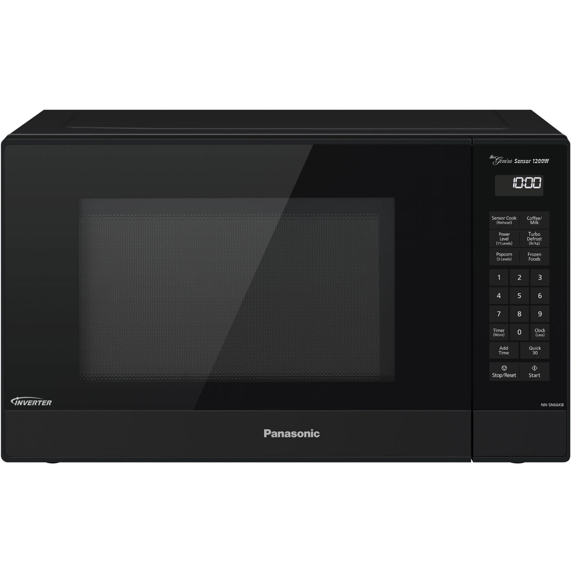 panasonic 1 2 cu ft 1200w genius sensor countertop microwave oven with inverter technology in black walmart com