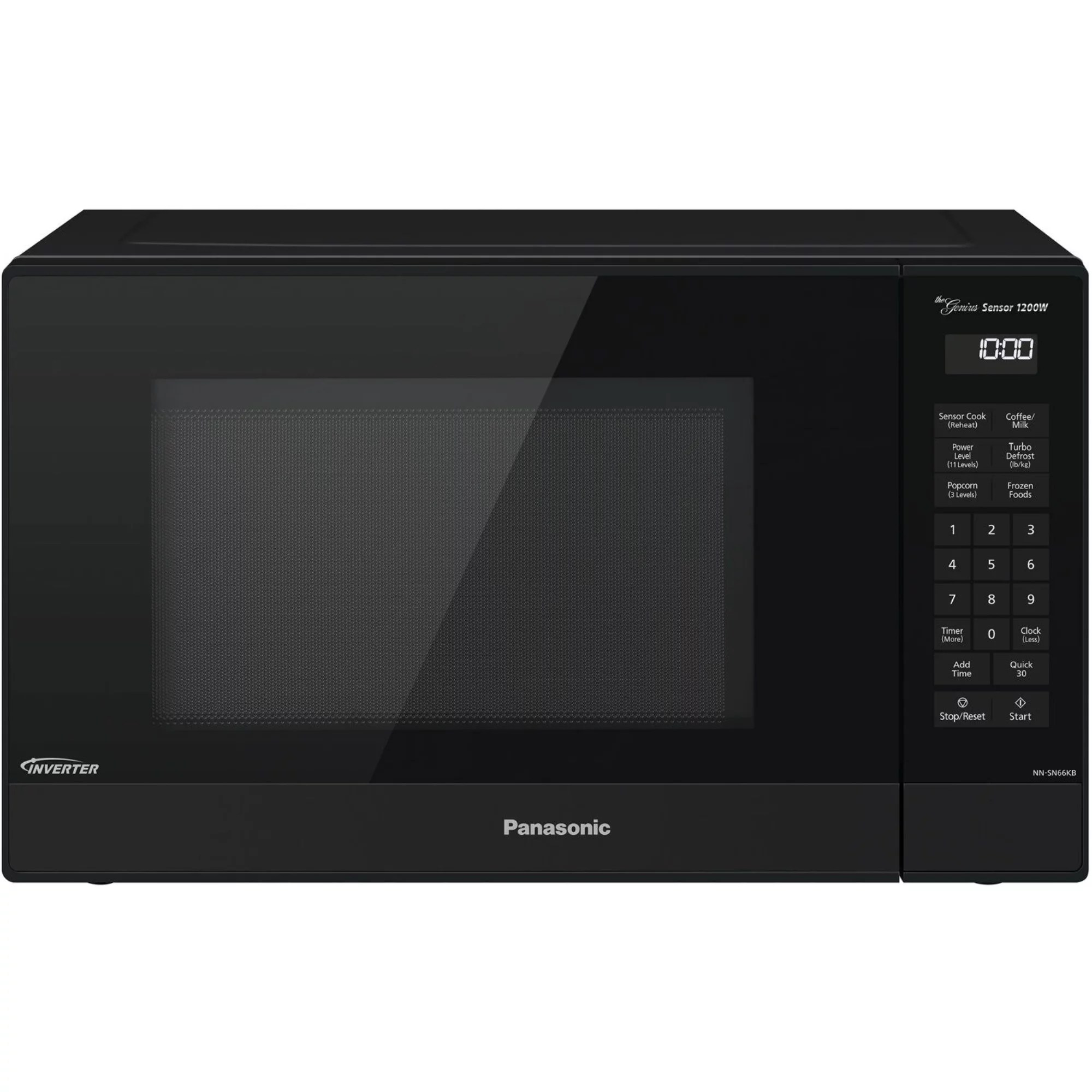 panasonic 1 2 cu ft 1200w genius sensor countertop microwave oven with inverter technology in black