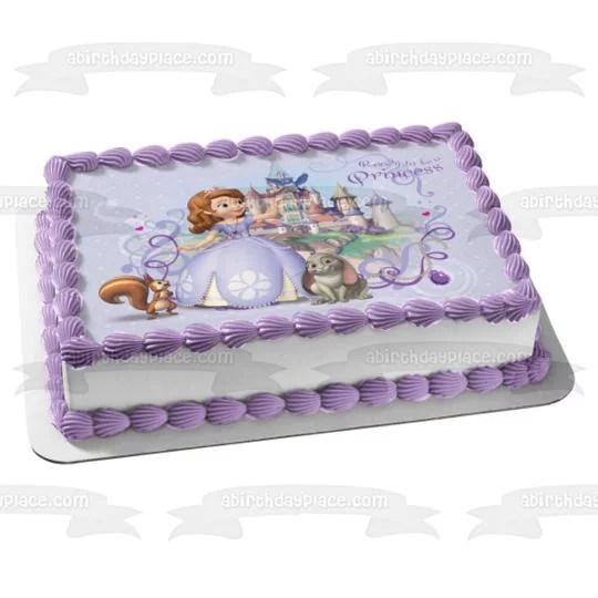 Sofia The First Princess Castle Disney Whatnaught Clover Edible Cake Topper Image Abpid05898 Walmart Com Walmart Com