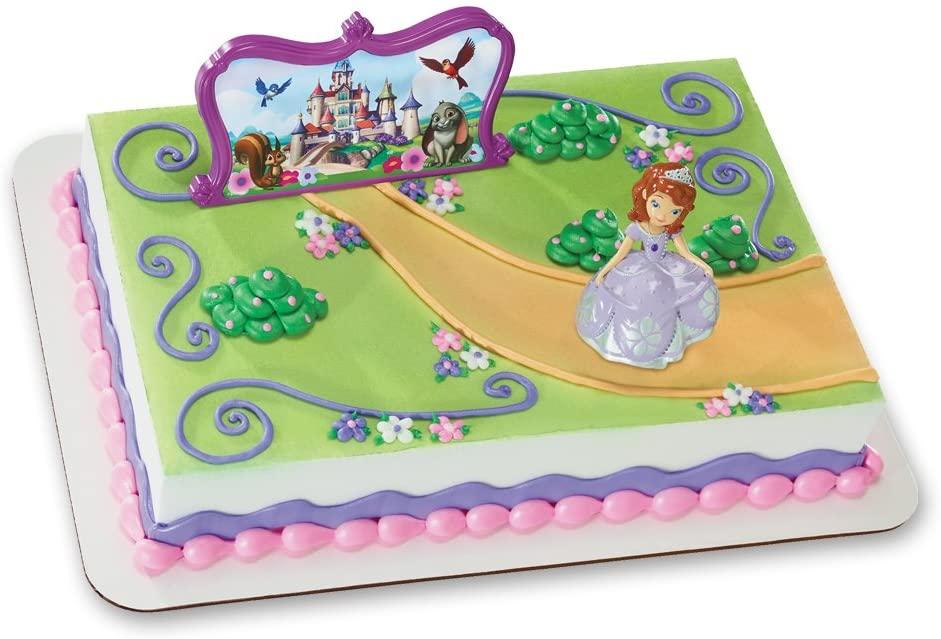 Decopac Sofia The First Sofia And Castle Decoset Cake Topper Walmart Com Walmart Com