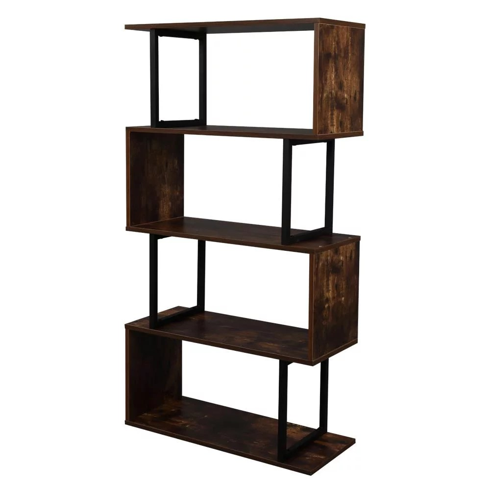 ubesgoo open shelf industrial etagere bookcase storage display book shelves