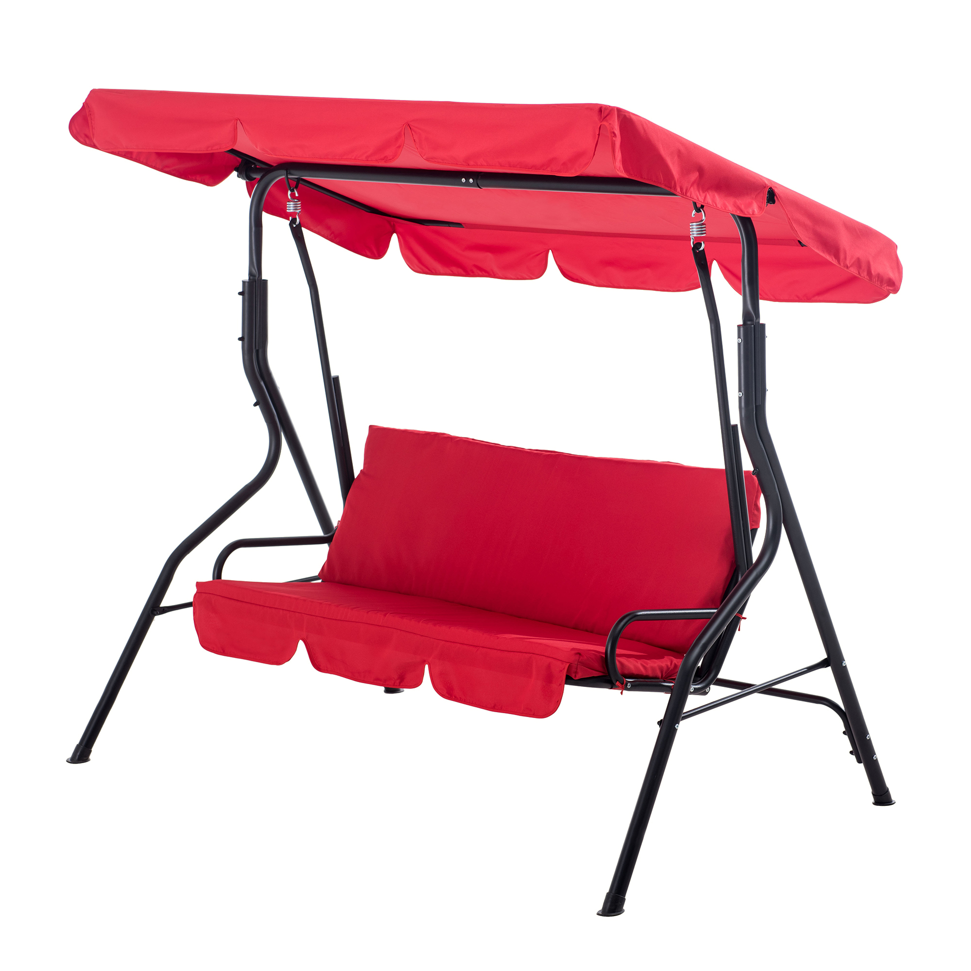 sunjoy erikson porch swing chair for patio deck outdoor bench swing set red