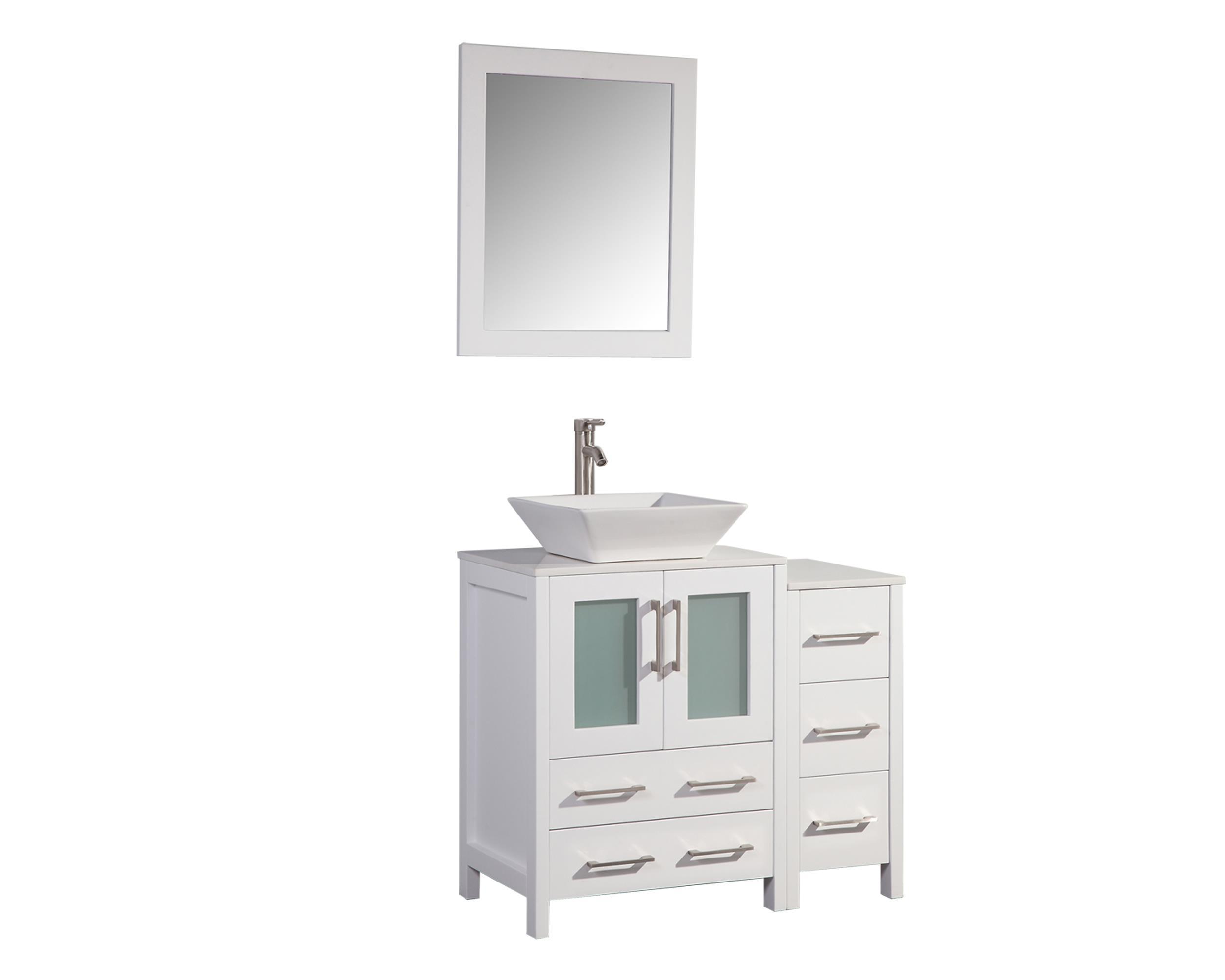vanity art 36 inch single sink bathroom vanity set with ceramic vanity top