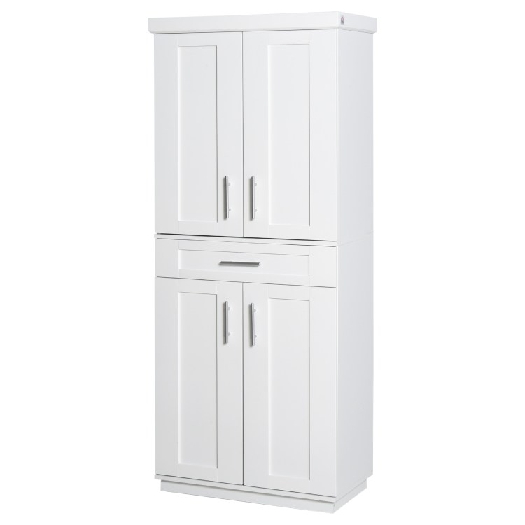 Homcom Modern Kitchen Pantry Freestanding Cabinet Cupboard With Doors And Shelves Adjustable Shelving Walmart Com Walmart Com