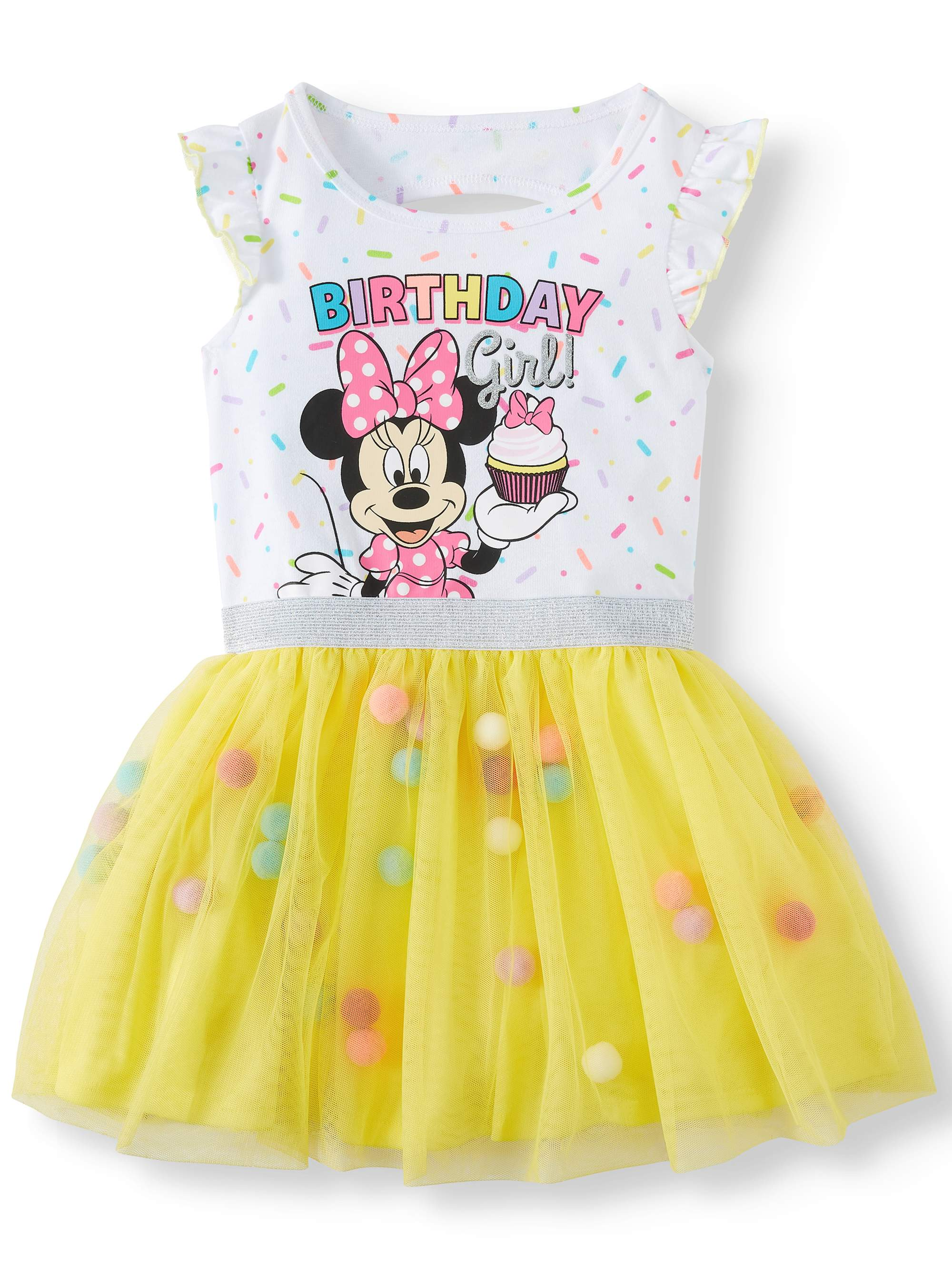 Minnie Mouse Minnie Mouse Birthday Girl Tutu Dress Toddler Girls Walmart Com Walmart Com