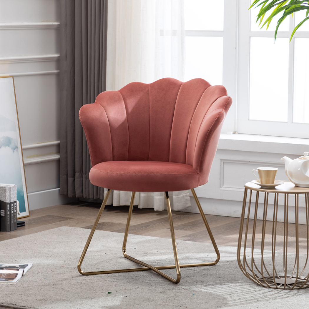 duhome velvet small accent chair with golden metal legs leisure vanity makeup chair guest chair tufted reception chair for living room bedroom dresser
