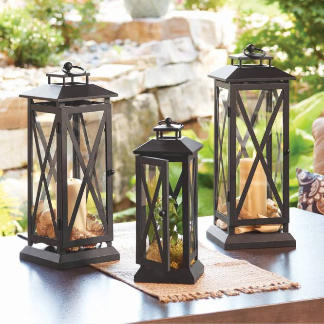Hanging From The Trees These Wire Spheres Have Battery Operated Led Outdoor Lantern