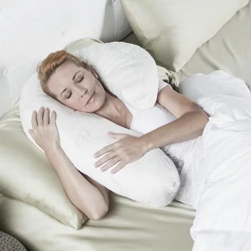 uno side sleeper memory foam queen pillow