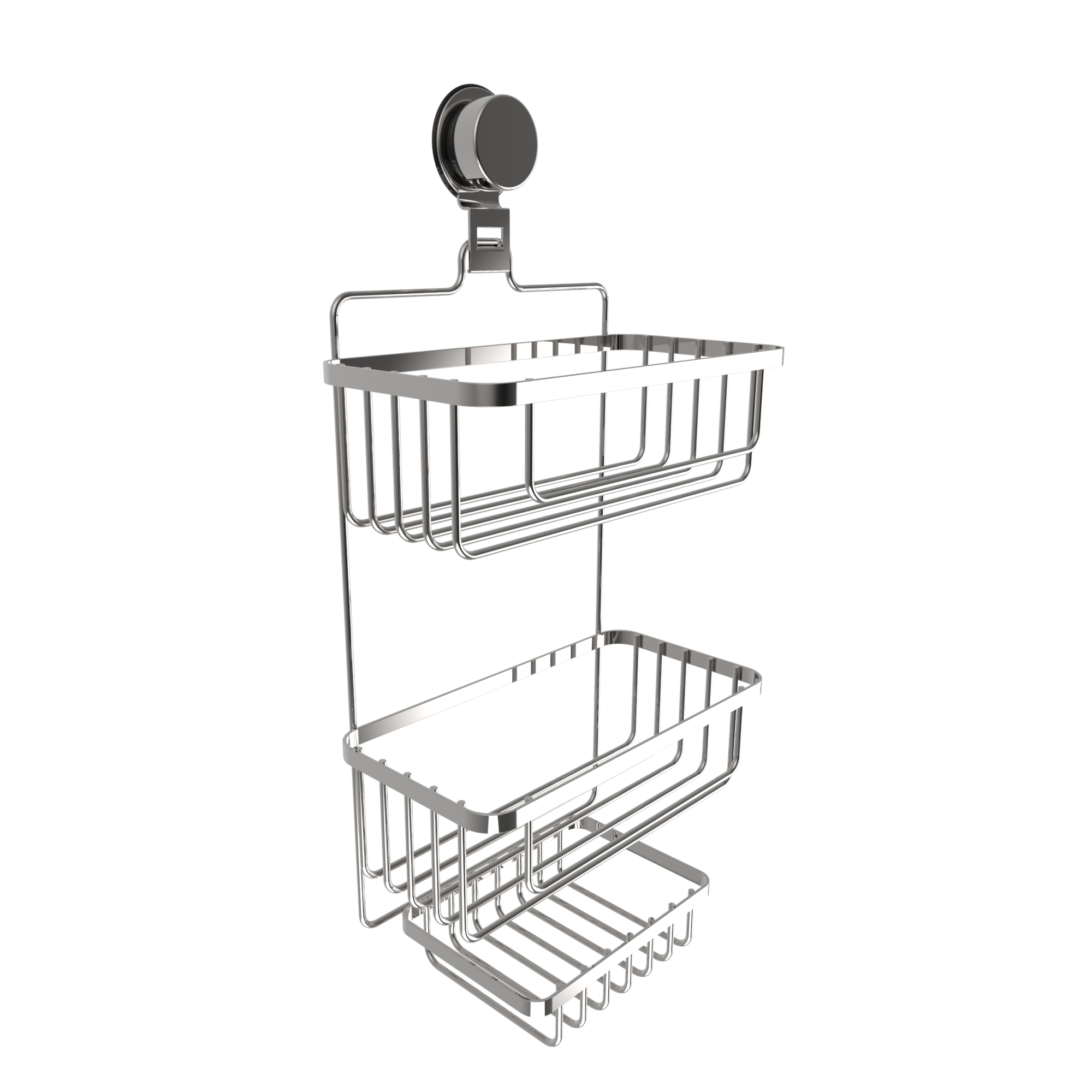 somerset home 3 tier wall mounted shower caddy