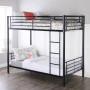 Premium Black Metal Twin Over Bunk Bed Multiple Colors With Slumber 1